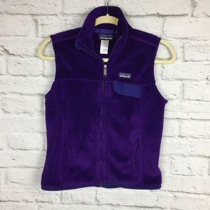 Patagonia Women's Vest Purple Small Zip Front